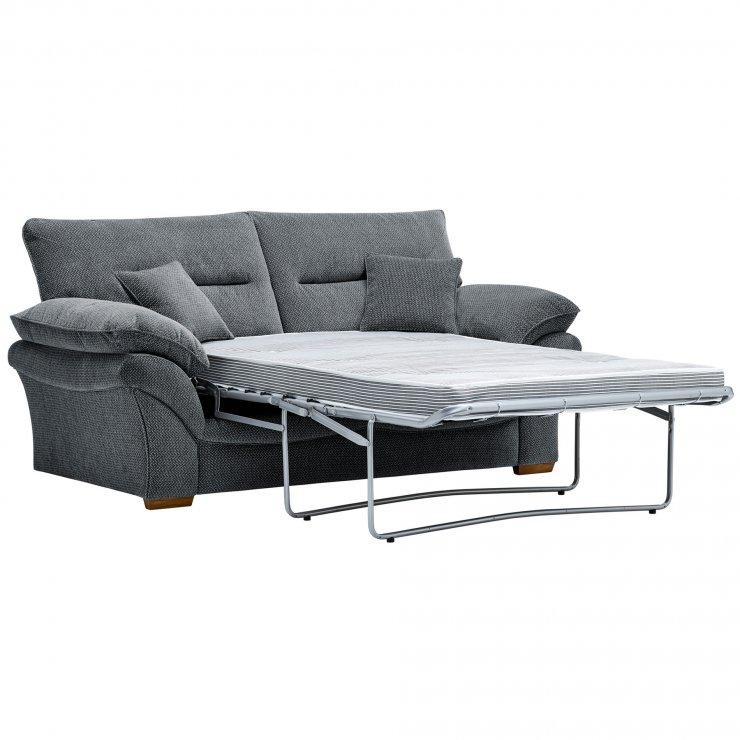 Chloe 2 Seater Deluxe Sofa Bed in Mizuna Fabric - Blue - Image 2