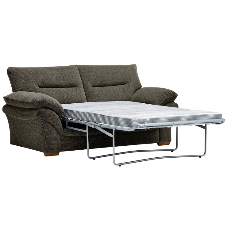 Chloe 2 Seater Deluxe Sofa Bed in Mizuna Fabric - Duck Egg