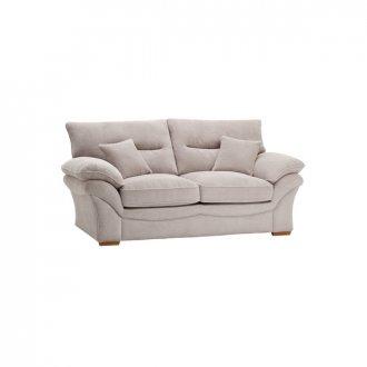 Chloe 2 Seater Sofa High Back in Breeze Fabric - Silver