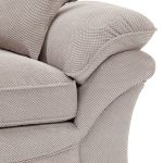 Chloe 2 Seater Sofa High Back in Breeze Fabric - Silver - Thumbnail 5