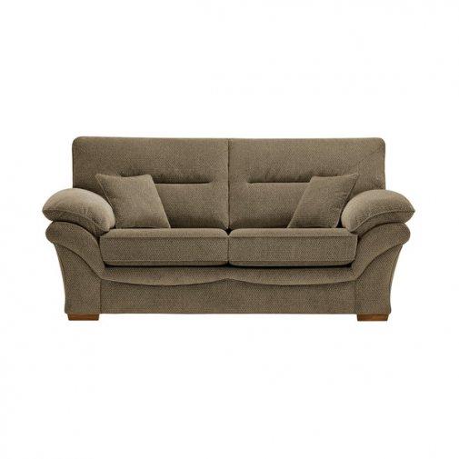 Chloe 2 Seater Sofa High Back in Mizuna Fabric - Camel