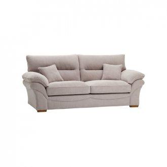 Chloe 3 Seater Sofa High Back in Breeze Fabric - Silver