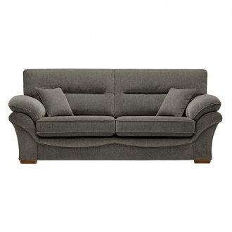 Chloe 3 Seater Sofa High Back in Mizuna Fabric - Duck Egg