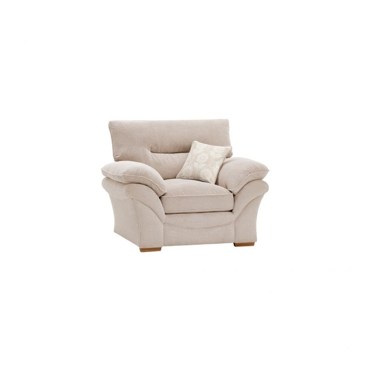 Chloe Armchair in Dynasty Fabric - Natural