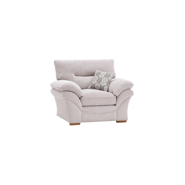 Chloe Armchair in Dynasty Fabric - Silver