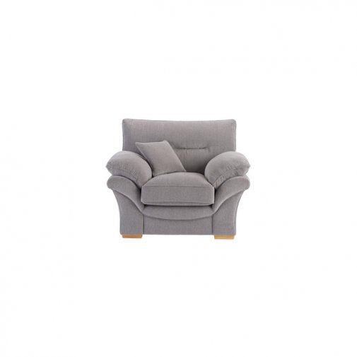 Chloe Armchair in Logan Fabric - Silver
