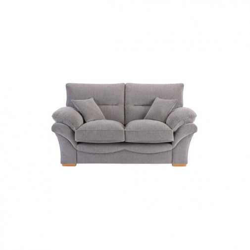 Chloe 2 Seater Sofa High Back in Logan Fabric - Silver