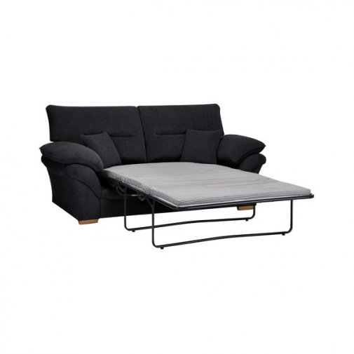 Chloe 2 Seater Standard Sofa Bed in Logan Fabric - Black