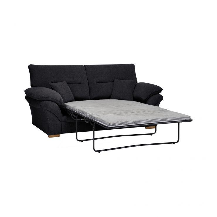 Chloe 2 Seater Standard Sofa Bed in Logan Fabric - Black - Image 4