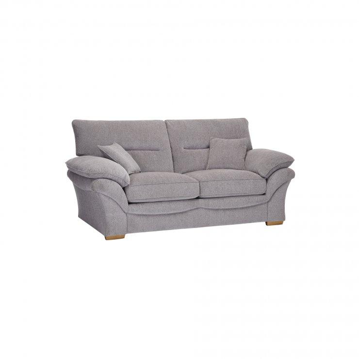 Chloe 2 Seater Standard Sofa Bed in Logan Fabric - Silver - Image 3