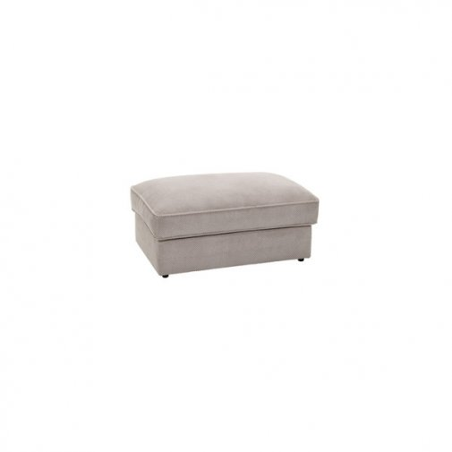 Chloe Storage Footstool in Breeze Fabric with Oak Feet - Silver