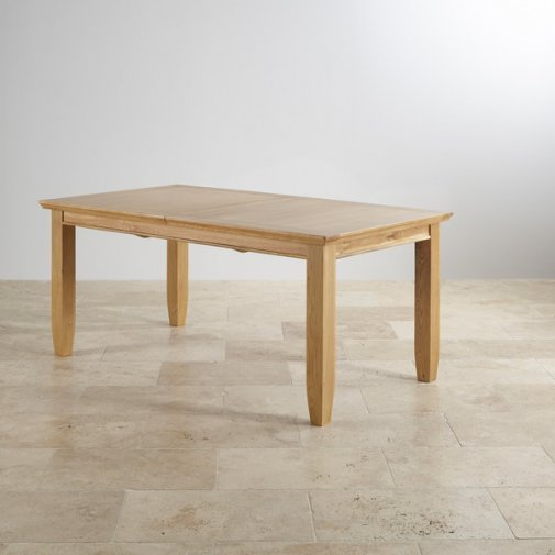 """Classic Natural Solid Oak 6ft x 3ft 3"""" Extending Dining Table"""