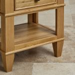 Classic Natural Solid Oak 1 Drawer Bedside Table - Thumbnail 4