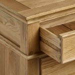 Classic Natural Solid Oak 2 Drawer Bedside Table - Thumbnail 5