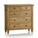 Classic Natural Solid Oak 3+2 Drawer Chest - Thumbnail 1