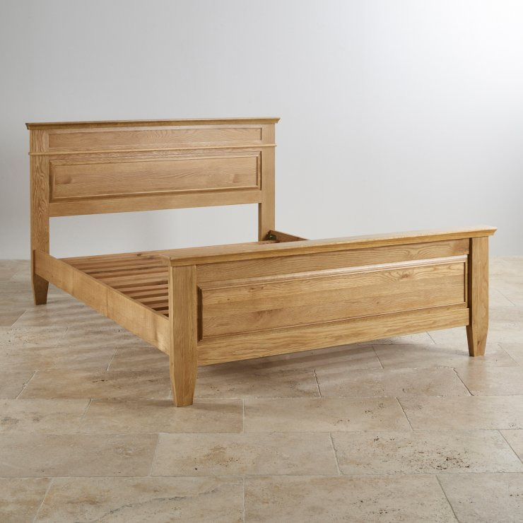 Classic Natural Solid Oak 6ft Super King-Size Bed