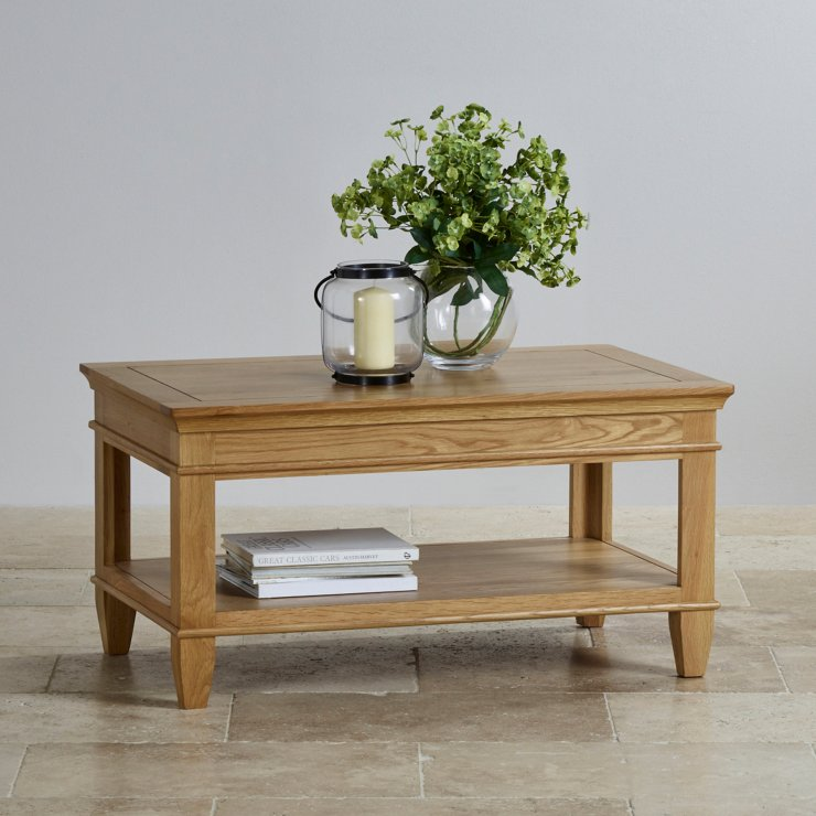 Classic Natural Solid Oak Coffee Table