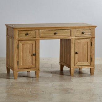 Classic Natural Solid Oak Computer Desk