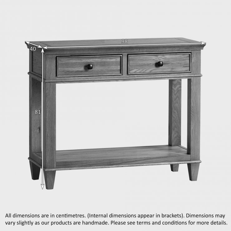Classic Natural Solid Oak Console Table