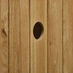 Classic Natural Solid Oak Corner TV Cabinet - Thumbnail 3