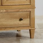Classic Natural Solid Oak Display Cabinet - Thumbnail 4