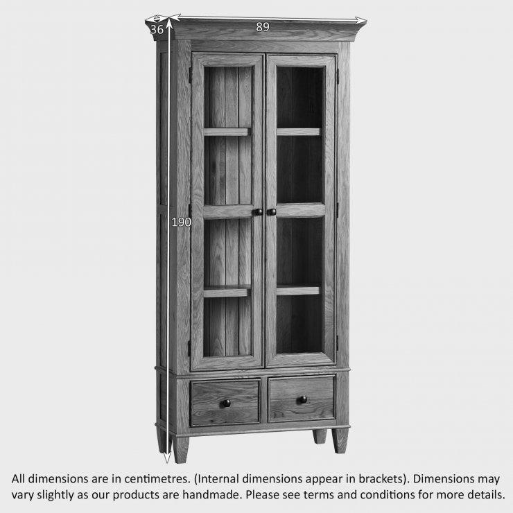 Classic Natural Solid Oak Display Cabinet