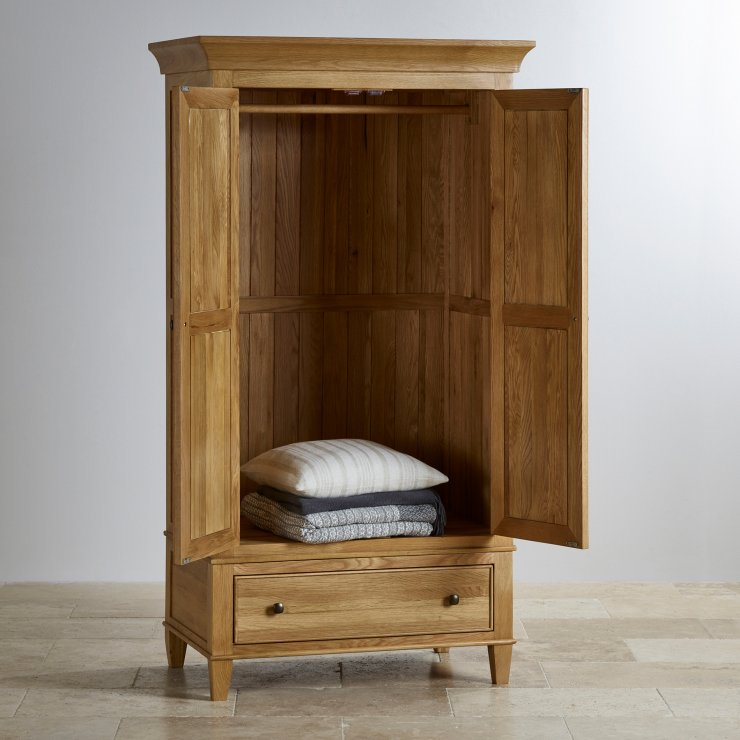 Classic Natural Solid Oak Double Wardrobe