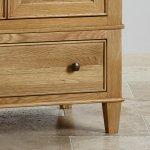 Classic Natural Solid Oak Double Wardrobe - Thumbnail 4