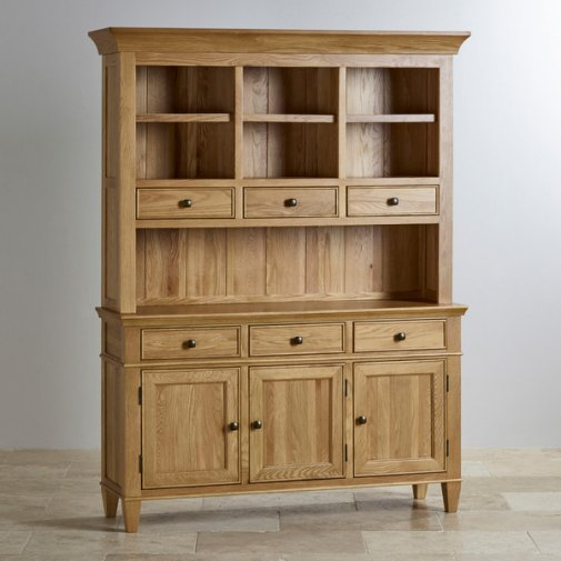 Classic Natural Solid Oak Large Dresser
