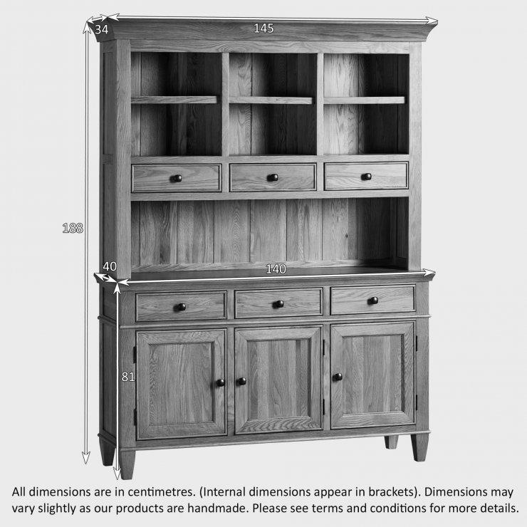Classic Natural Solid Oak Large Dresser