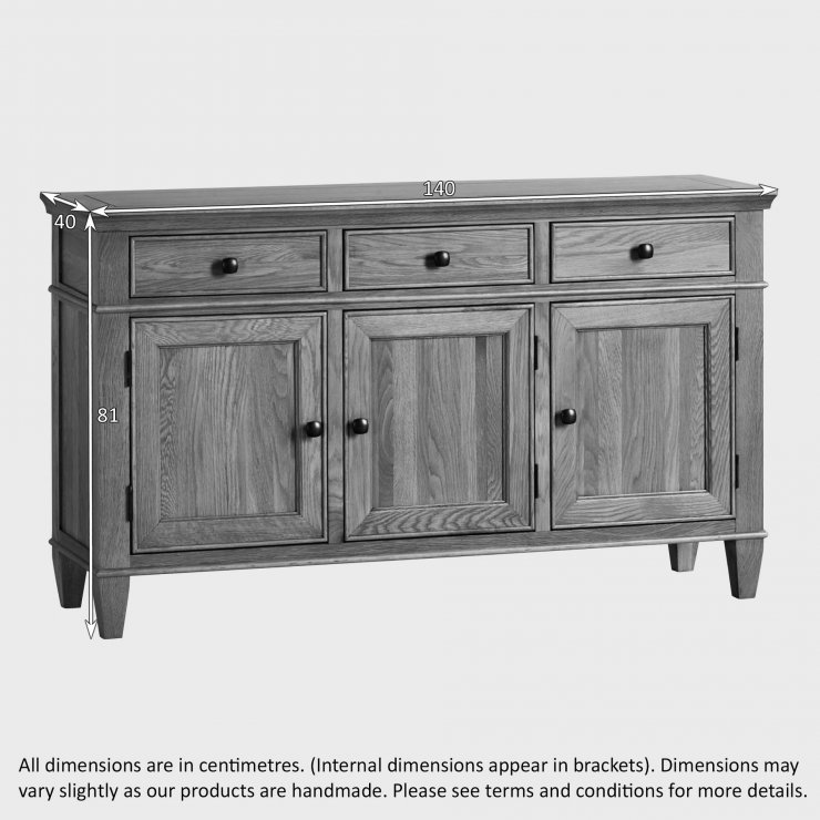 Classic Natural Solid Oak Large Sideboard