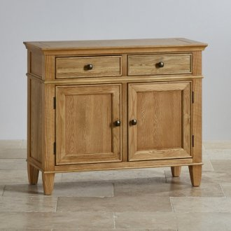 Classic Natural Solid Oak Small Sideboard