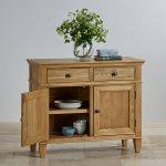 Classic Natural Solid Oak Small Sideboard - Thumbnail 2