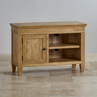 Classic Natural Solid Oak Small TV Cabinet