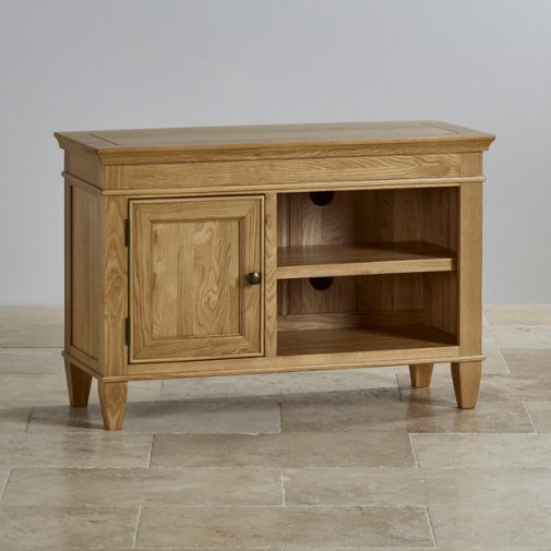 Classic Natural Solid Oak Small TV Cabinet