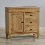 Classic Natural Solid Oak Storage Cabinet - Thumbnail 2