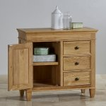 Classic Natural Solid Oak Storage Cabinet - Thumbnail 3