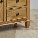 Classic Natural Solid Oak Storage Cabinet - Thumbnail 4