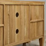Classic Natural Solid Oak Large TV Cabinet - Thumbnail 4