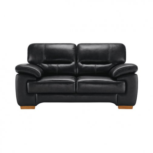Clayton 2 Seater Sofa in Black Leather