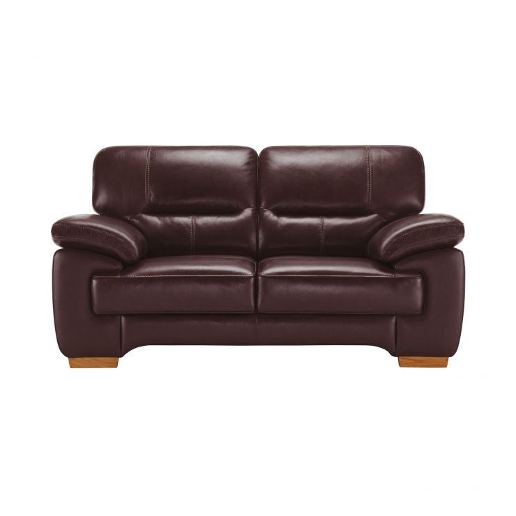 Clayton 2 Seater Sofa in Burgundy Leather