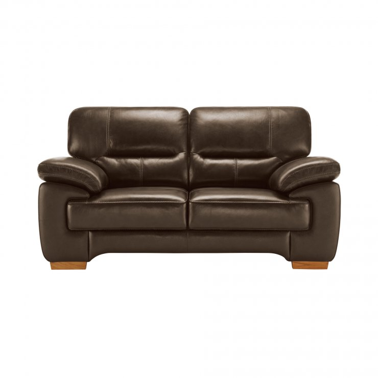 Clayton 2 Seater Sofa in Light Brown Leather - Image 4