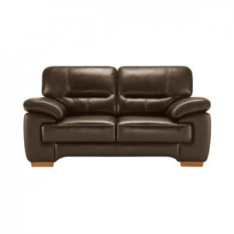 Clayton 2 Seater Sofa in Light Brown Leather