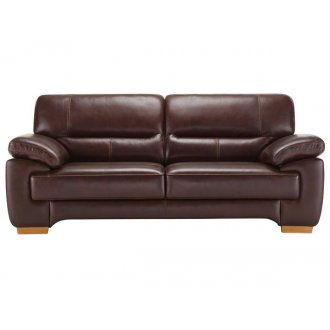 Clayton 3 Seater Sofa in Brown Leather