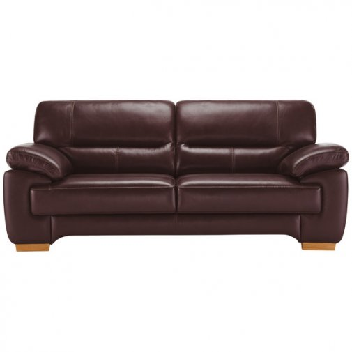 Clayton 3 Seater Sofa in Burgundy Leather