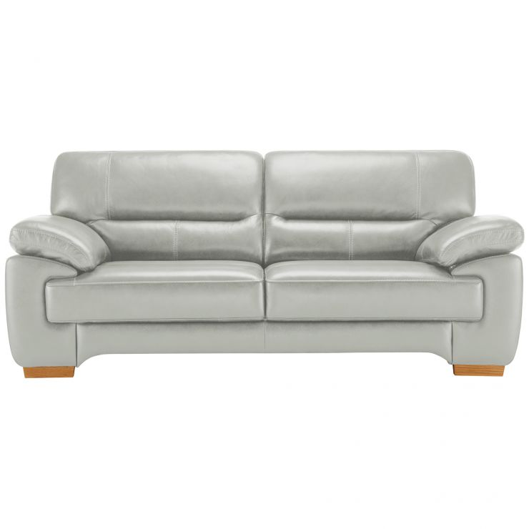 Clayton 3 Seater Sofa in Grey Leather