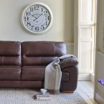 Clayton 3 Seater Sofa in Light Brown Leather - Thumbnail 3