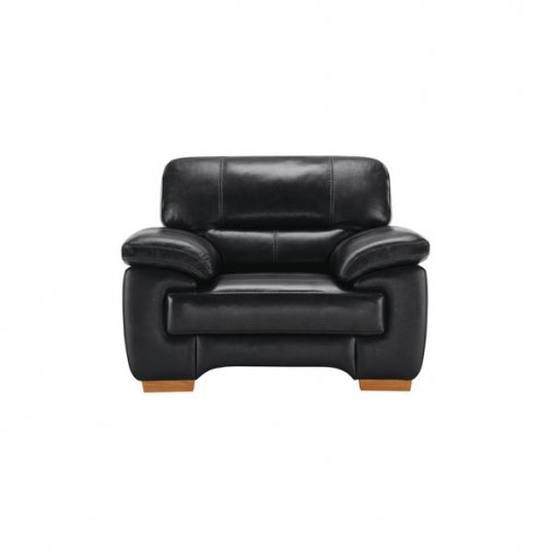 Clayton Armchair in Black Leather