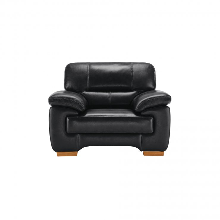 Clayton Armchair in Black Leather - Image 2
