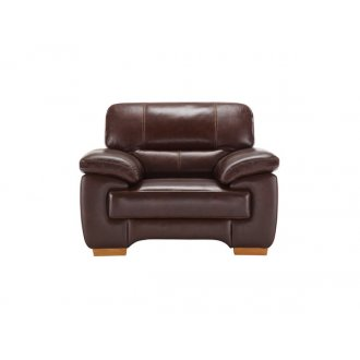 Clayton Armchair in Brown Leather
